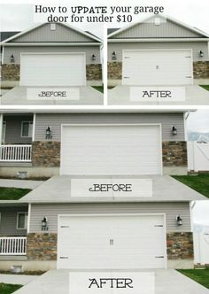 Just adding a little style to your garage doors will instantly transform them. You can actually give those doors the carriage house door look without spending hundreds on actual carriage house doors. - 49 Brilliant Garage Organization Tips, Ideas and DIY Up House, House Doors, Garage Organization Tips, Garage Storage, Workshop Organization, Decoration Inspiration, Home And Deco, Interior Exterior, Interior Design