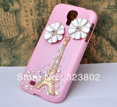 Aliexpress.com : Buy Handmade Bling Rhinestone Hard Pink Case Cover For Samsung GALAXY S4 or IV i9500 with Alloy Eiffel Tower and Flower from Reliable case for GALAXY s 4 suppliers on Cell Phone Case Rhinestone Button Bead Resin Craft Alloy Jewelry $8.60