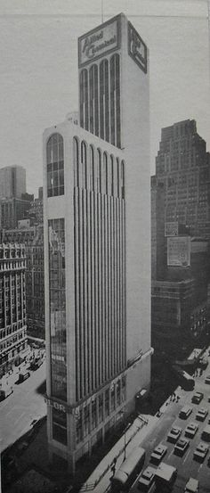 1965 TIMES TOWER Allied Chemical 42nd Street at 7th Avenue and Broadway 1960s NYC New York City by Christian Montone, via Flickr