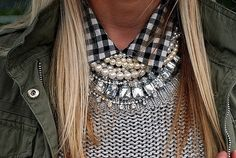 layer 'em on #necklace #stament #jewels  #inspiration