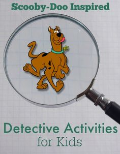 Scooby-Doo Inspired Detective Activities for Kids...invisible ink clues!