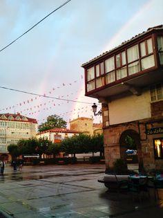 Doble arcoiris en Espinosa de los Monteros. Double rainbow in Espinosa de los Monteros (Burgos-Spain)