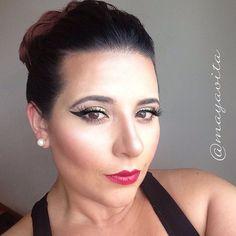 Foto de Instagram de @mayavita • #Mywork #Motivescosmetics #nyxcosmetics #Makeup #Gold #Black