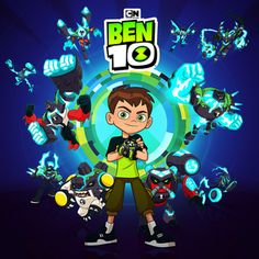 Ben 10 with Omni-Enhanced aliens card. Ben 1000, Coloring Books, Coloring Pages, Ben 10 Birthday, Les Aliens, Character Art, Character Design, Rick And Morty Poster, 2000 Cartoons