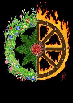 """""""The Fern Flower"""" Cvetok paporotnika Dark Fantasy, Fantasy Art, Tarot, Fern Flower, World Of Warriors, Medicine Wheel, Summer Solstice, Community Art, Pagan"""
