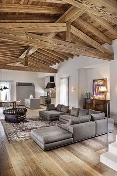 Wonderful Rustic Living Room Decor Ideas And Remodel - Page 44 of 144 - Afshin Decor Home Interior Design, Interior Architecture, Italian Interior Design, Room Interior, Casa Loft, Dressing Room Design, Home Fashion, Home And Living, Living Room Decor