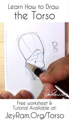 How to Draw the Torso: Step by Step Tutorial + Free Practice Worksheet (Printable) — JeyRam Art Drawing Body Poses, Human Anatomy Drawing, Drawing Tips, Pencil Art Drawings, Art Drawings Sketches, Figure Drawings, Drawing Tutorials For Beginners, Art Tutorials, Anatomy Reference