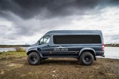MERC SPRINTER ARCTIC TRUCK WITH 46-INCH TYRES. The Arctic Truck Sprinter features a prefabricated frame that's bolted to the chassis. This shortens the time it takes to modify the vehicle.