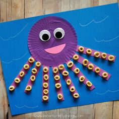 Cupcake Liner Octopus Craft