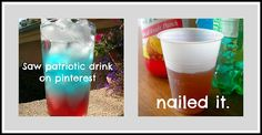 """Zucchini Summer: Red, White, & Blue Pinterest Drink. Nailed it. (Or """"How Pinterest Destroyed My Trust"""")"""