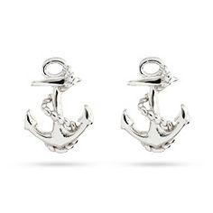 Sterling Silver Anchor Stud Earrings $28 #anchor #earrings #nautical