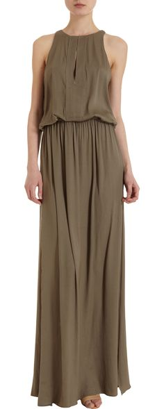 Olive Silk Maxi by A.L.C. #Dress #Maxi #ALC