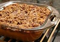 Sweet potato casserole recipe with pecan topping. A sweet potato casserole recipe, made with mashed sweet potatoes and a crunchy pecan topping. Thanksgiving Recipes, Fall Recipes, Holiday Recipes, Great Recipes, Favorite Recipes, Easter Recipes, Yummy Recipes, Mashed Sweet Potatoes, Sweet Potato Casserole
