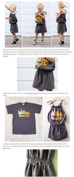 How to make children's clothes remake details – Delanna Reyes – Join the world of pin Sewing Kids Clothes, Sewing For Kids, Baby Sewing, Fashion Fabric, Diy Fashion, Wie Macht Man, Recycled T Shirts, Clothing Hacks, Handmade Clothes
