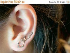 Aquarius Constellation Earrings Ear Cuffs Aquarius
