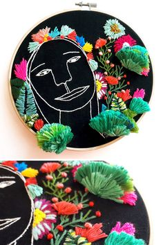Hand embroidery by Katy Biele #hoopart #embroidery