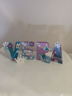 """Paper Mache Letters or Numbers """"Frozen"""" Inspired by CraftPotPourriByDrG on Etsy"""