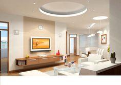 mẫu trần thạch cao phòng khách hiện đại đẹp nhất 2016 | Trần Vách Thạch Cao