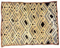 "Prestige Cloth  Bakuba-Shoowa People,  Congo, Early 20th century  Embroidered raffia  51 x 65 cm (20"" x 25 1/2"")"