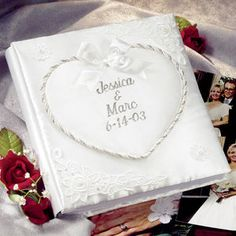 Personalized Satin Covered Wedding Album