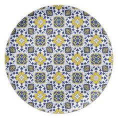 Tile Turkish Iznik Girih Ethnic Floral Pattern Plates