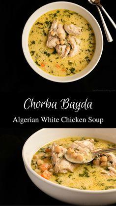 Ramadan recipes 419538521520842802 - Chorba Bayda – Algerian White Chicken Soup Source by Soup Recipes, Chicken Recipes, Cooking Recipes, Healthy Recipes, Chicken Soups, Milk Recipes, Healthy Soup, Cooking Tips, Plats Ramadan