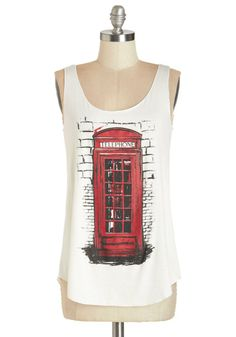 Calling all anglophiles... this graphic tank might just be your lucky number!