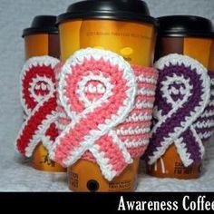 Awareness Coffee Cozy Croch..