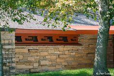 Usonian, Clerestory Windows, Radiant Floor, Passive Solar, Frank Lloyd Wright, Flat Roof, Lancaster, Cut Outs, Wisconsin
