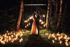 Прекрасная летняя свадьба Димы и Юли в стиле рустик
