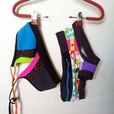 Neo polka Gym and Swim Sports Bra by jmorco on Etsy, $52.00