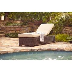 Brown Jordan Northshore Patio Chaise Lounge in Harvest -- QUICK SHIP-DY6061-C at The Home Depot