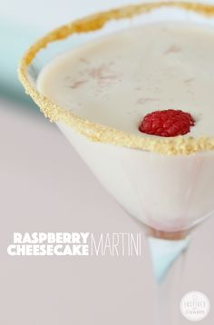 Raspberry Cheesecake Martini |Inspired by Charm
