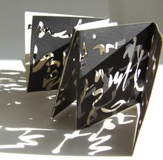 Jenny Smith: Untitled, laser cut screen print, signed and numbered, limited edition 100 Concertina Book, Accordion Book, Book Art, Up Book, Paper Book, Paper Art, Libros Pop-up, Book Sculpture, Book Projects
