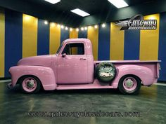 '52 Chevy... in PINK.... SERIOUSLY MUST HAVE!!!  <3 it!!