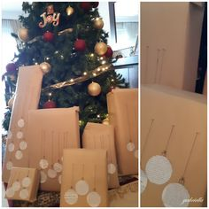 decoration Christmas gift#διακόσμηση Χριστουγιεννιάτικων δώρων Decoration Christmas, Christmas Tree, Holiday Decor, Advent Calendar, Home Decor, Teal Christmas Tree, Decoration Home, Xmas Trees, Xmas Tree