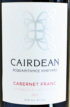 Cairdean Estate Winery Cabernet Franc | Best Napa Valley Wineries | Reviewed by @TheFermtdFruit Top Red Wines, Napa Valley Wineries, Wine Reviews, Cabernet Sauvignon, Place Card Holders, Logo Ideas, Fruit, Wine Pairings