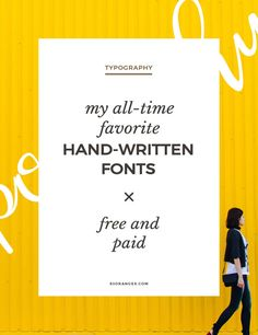 My All Time Favorite Handwritten Fonts http://83oranges.com/time-favorite-handwritten-fonts/ #design #art #graphicdesign