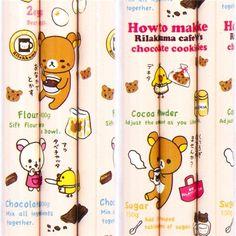 Rilakkuma chocolate cookies recipe pencil by San-X
