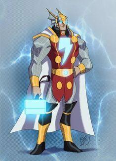 "Marvel and DC Mashup Fan Art ""Amalgams"" - Media Chomp Comic Book Characters, Comic Book Heroes, Marvel Characters, Comic Character, Comic Books Art, Comic Art, Marvel Heroes, Marvel Dc, Marvel And Dc Superheroes"