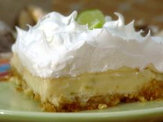 Bubba's Key Lime Pie from FoodNetwork.com.  Falloons tried it and liked it!  Kinda combined elements of this with the other Paula Deen Key Lime Pie.