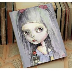 Miniature+woodblock...from+my+original+artwork+by+ppinkydollsart,+$10.00