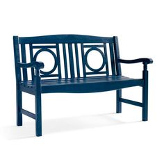 Add character to the garden, patio or sunroom: the distinctive openwork design and smooth, slatted surfaces make our Yorkshire    Bench a pleasure from every angle. Weathered finishes offer a gracefully aged style that would take Mother Nature years to accomplish.            Outdoor furniture with elegant details and an antiqued finish, right out of the box                Crafted from solid hardwoods                Finished with a lasting, weathered patina                Annual urethane a...