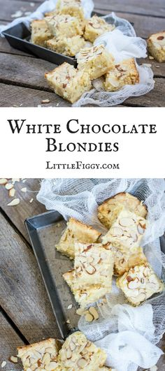Enjoy this White Chocolate Blondies recipe, with a hint of coconut & lime to brighten things up! Get the recipe at Little Figgy Food. #ad #DriveToyota #LetsGoPlaces #Prius via @LittleFiggyFood