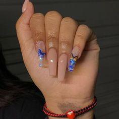 Drip Nails, Bling Acrylic Nails, Square Acrylic Nails, Best Acrylic Nails, Gel Nails, Uñas Fashion, Artist Fashion, Nagellack Design, Acylic Nails