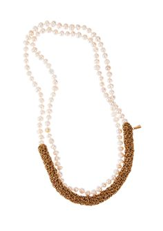 Lucy Folk presents DIP - NH: Spring/Summer 2014 / SH: Autumn/Winter 2014 - PEARL DIVER NECKLACE