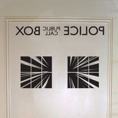Police Box Interior door decal by Walkingdeadpromotion on Etsy, $19.99