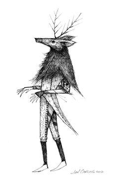 'Levitating Deer Magistrate' Sketchbook Exhibit #21 Jon Carling