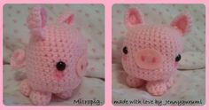 Cute Amigurumi Micro-Pig - free crochet pattern and tutorial here: http://studio-ami.tumblr.com/post/19526112019/micropig-pattern-hello-everyone-so-this-is
