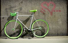 very nice fixie! /by ▲ = trashisfesch = ▲ #flickr #fixie #green